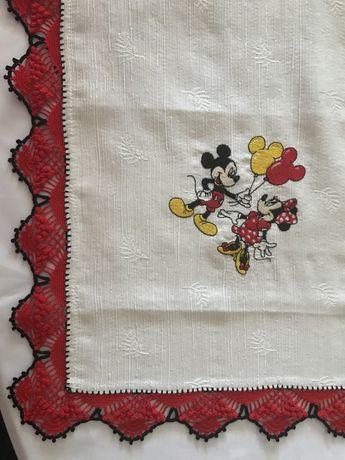 Conjunto 3 panos com crochet