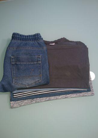 Bluzki chłopiec 152  5szt + spodnie