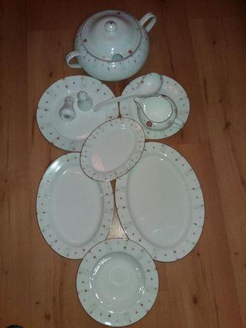 Serwis obiadowy na 12 osób,Heywood,porcelana,nowy
