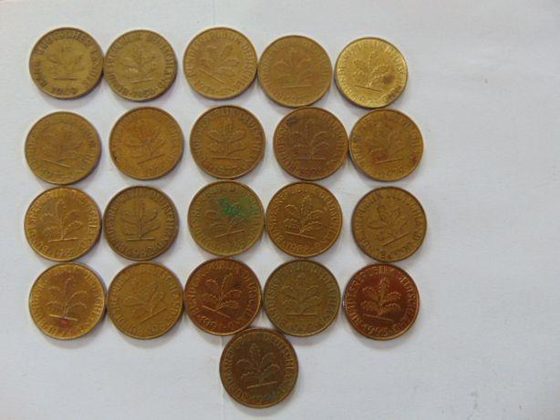 Monety niemieckie 10 fenigow,rożne roczniki