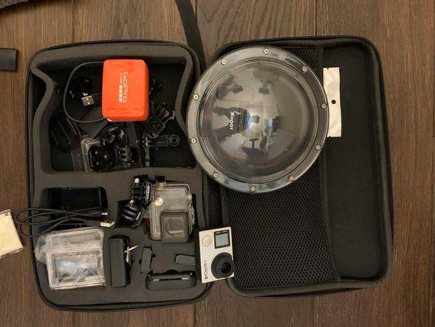 GoPro Hero 4 silver ; pilot; kula sferyczna i dodatki