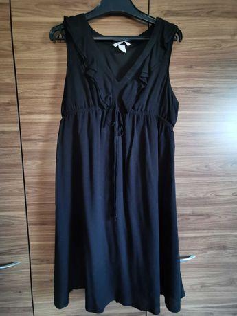 Czarna sukienka ciążowa h&m r. S