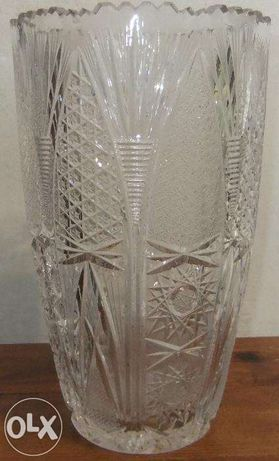 Очень красивая ваза чешский хрусталь ручная работа