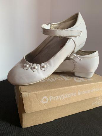 Buty dziewczęce, białe rozm. 34 Pierwsza Komunia Święta
