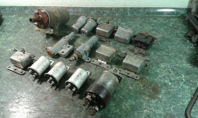 Катушки зажигания,реле стартера, поворотов, коммутатор,СССР