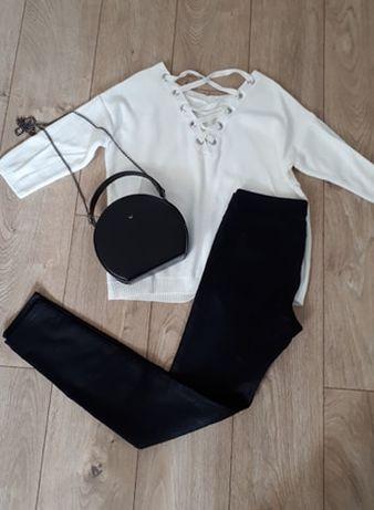 Nowe legginsy H&M z matowej skórki ekologicznej, rozmiar S