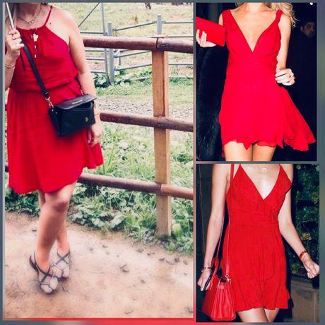 Czerwona letnia sukienka r.M