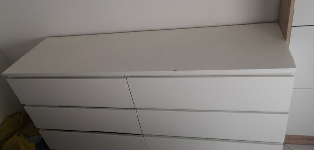 Cómoda branca 6 gavetas