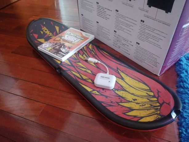 WII Jogo-Tony Hawk Shred + Placa