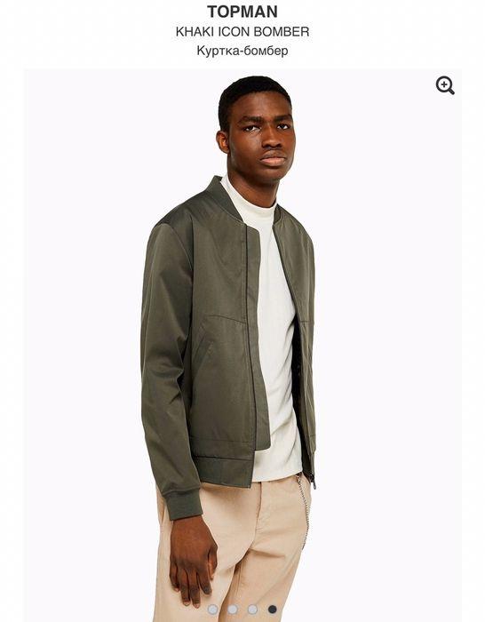 Куртка бомбер хаки цвет Topman s Буча - изображение 1