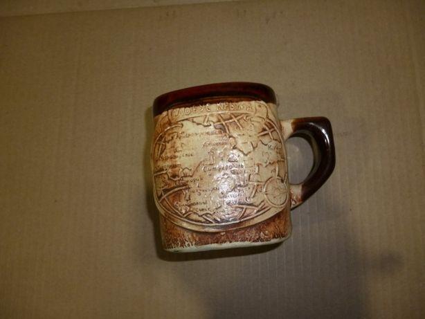 чашка кружка керамическая Крым Черное Море с русалкой внутри сувенир