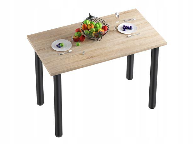 Stół stolik kuchenny do jadalni kuchni blat sonoma nogi czarne 70x40