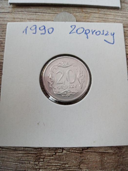 1990 20 groszy 2szt sprzedam Poznań - image 1