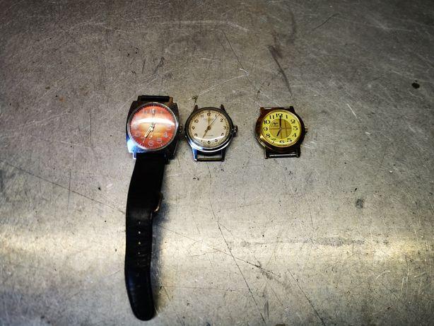 Trzy stare zegarki CCCP Sprawne Złoty