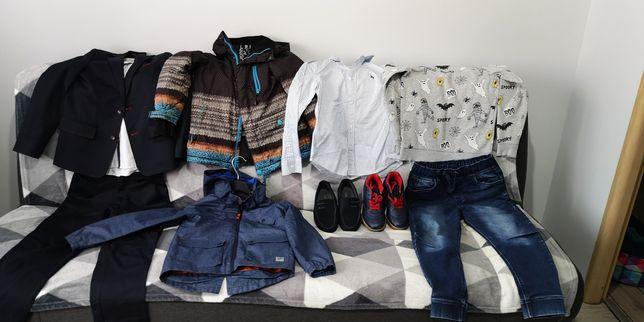 Zestaw ubrań garnitur buty koszule