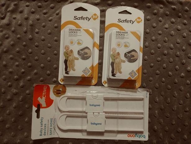 Zabezpieczenie szuflad 14 sztuk Safety 1st + gratis 2 zabezp. do szaf