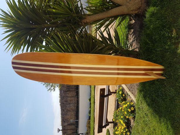 Prancha de surf de madeira vintage decoração