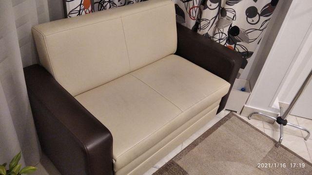 Komplet mebli sofa rozkladana dwuosobiwa i dwa fotele