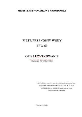 Filtr przenośny wody EPW -50