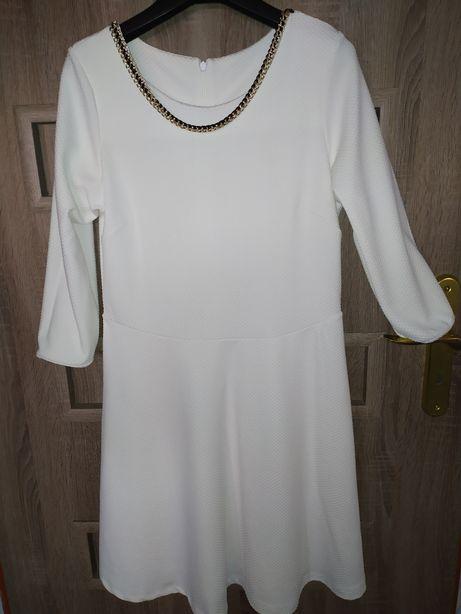 Biała sukienka l/ xl