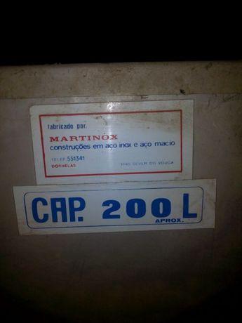 Deposito de 200 litros inox