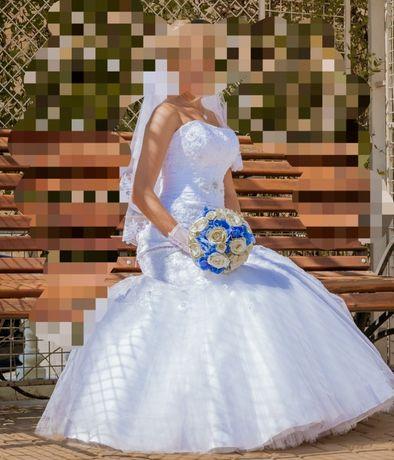 Платье свадебное рыбка