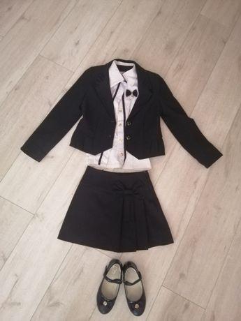 Школьная форма туфли пиджак юбка блузка на девочку 1, 2 класс