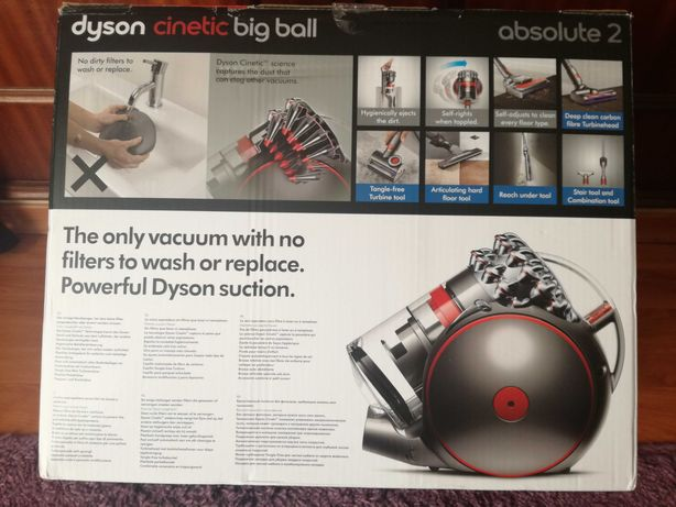 Aspirador Dyson Cinetic Big Ball Absolute 2ª escova fibra carbono NOVO