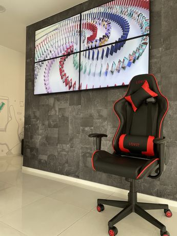 Cadeira Gaming Lovit Gaming Z78 Vermelho/Preto