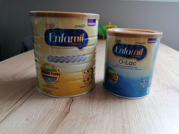 Mleko modyfikowane enfamil 0-lac i enfamil neuro plus 1