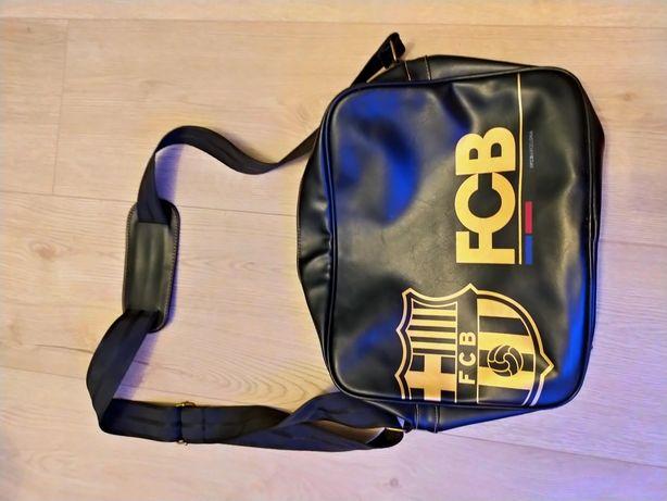 Oryginalna skórzana torba FC Barcelona made in Spain