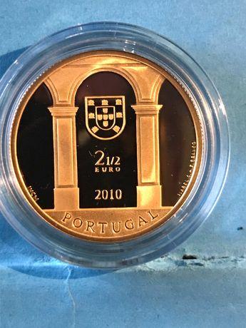 """Moeda em ouro de 2,50€ """" Terreiro do Paço"""""""