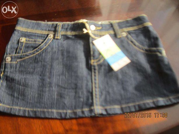 Spódnica mini ciemno niebieski dżins r.M