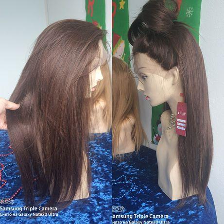 Натуральный парик с имитацией кожи славянский детский волос 60 см