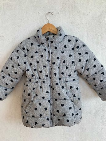 Теплая зимняя детская куртка H&M 6-7лет 122см
