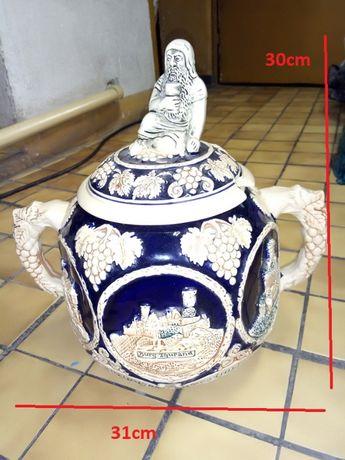 Waza ceramiczna ręcznie zdobiona
