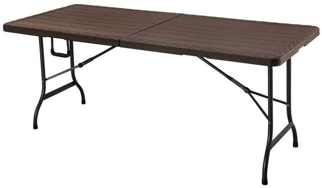 Stół cateringowy bankietowy ogrodowy składany 180cm drewniany design