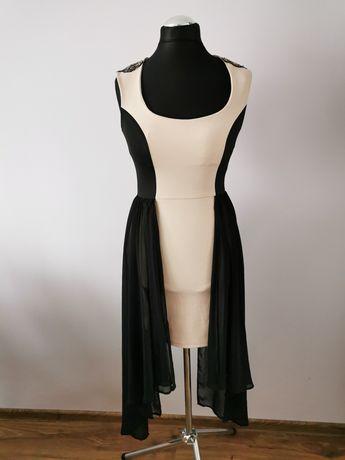 Piękna elegancka wyjściowa sukienka rozmiar 42