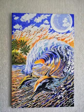 Купить Картину Дельфин ручная работа Из рук в руки или отправка